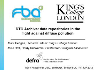 DTC Archive: data repositories in the fight against diffuse pollution