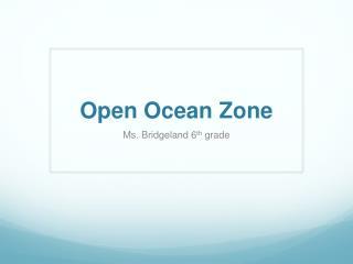 Open Ocean Zone