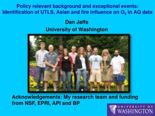 Dan Jaffe University of Washington