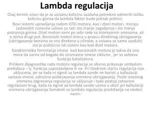 Lambda  regulacija