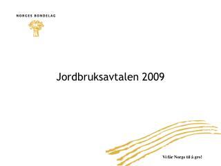 Jordbruksavtalen 2009