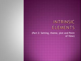Intrinsic Elements