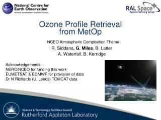 Ozone Profile Retrieval  from  MetOp