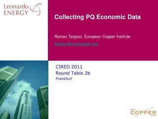 Collecting  PQ  Economic  Data