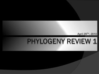Phylogeny Review 1