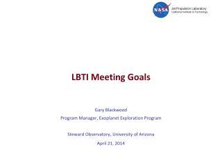 LBTI Meeting Goals
