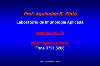 Prof. Aguinaldo R. Pinto