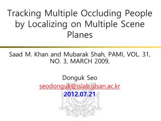 Tracking Multiple Occluding People by Localizing on Multiple Scene Planes