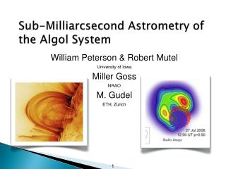 Sub- Milliarcsecond  Astrometry of the  Algol  System