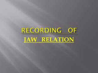 RECORDING   OF