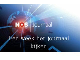 Een week het journaal kijken