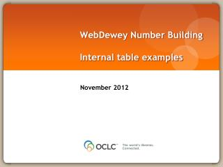WebDewey  Number Building Internal table examples