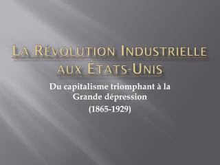 La  Révolution Industrielle  aux  États-Unis