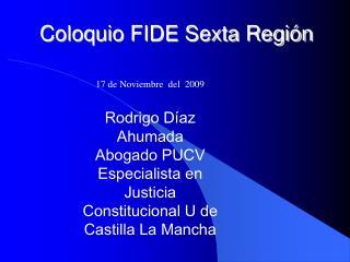 Coloquio FIDE Sexta Región