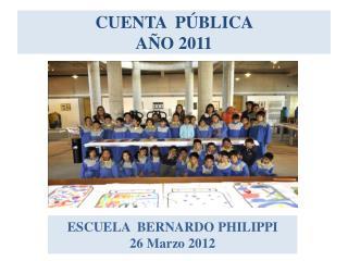 CUENTA  PÚBLICA  AÑO 2011