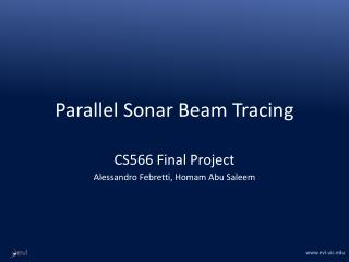 Parallel Sonar Beam Tracing
