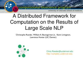 A Distributed Framework for Computation on the Results of Large Scale NLP
