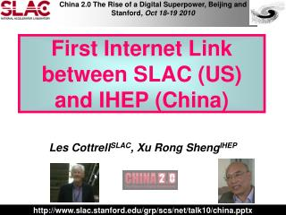 First Internet Link between SLAC (US) and IHEP (China)