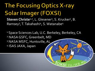 The Focusing Optics X-ray Solar Imager (FOXSI)