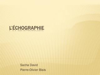 L'Échographie