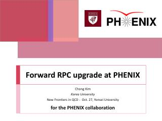 Forward RPC upgrade at PHENIX