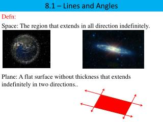8.1  –  Lines and Angles