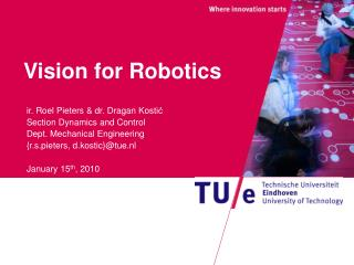 Vision for Robotics