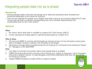 Integrating people data into as-is phase