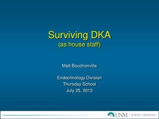 Surviving DKA (as house staff)
