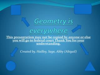 Geometry is everywhere