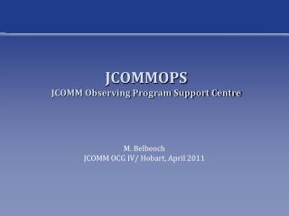 JCOMMOPS JCOMM Observing Program Support Centre