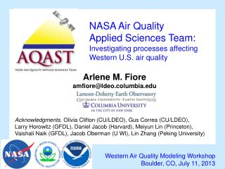 NASA Air Quality  Applied Sciences Team: