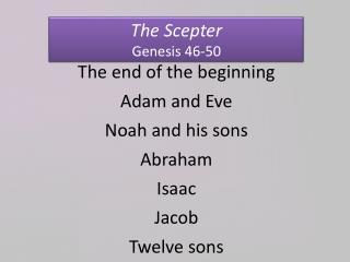 The Scepter Genesis 46-50