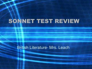 SONNET TEST REVIEW