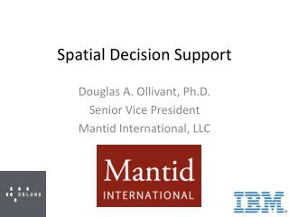 Spatial Decision Support