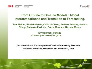 3rd International Workshop on Air-Quality Forecasting Research,