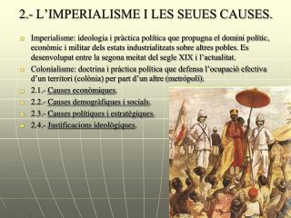 2.- L�IMPERIALISME I LES SEUES CAUSES.