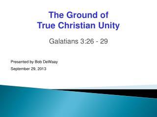 Galatians 3:26 - 29