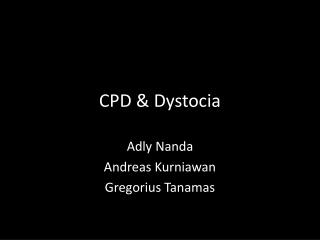 CPD & Dystocia