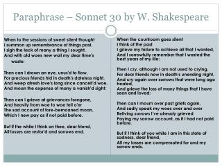 Ppt Shakespeare Sonnet 18 Powerpoint Presentation Id