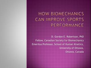 How Biomechanics Can Improve Sports Performance