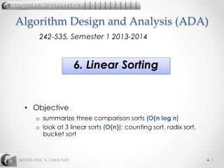 Algorithm Design and Analysis (ADA)