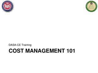 Cost management 101