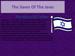 The Saver Of The Jews