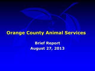 Orange County Animal Services