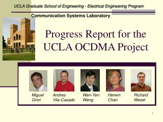 Progress Report OCDMA July 2006