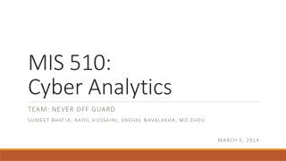 MIS 510:  Cyber Analytics