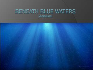 Beneath Blue Waters Vocabulary