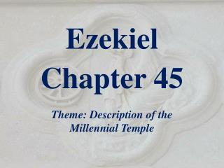 Ezekiel  Chapter  45