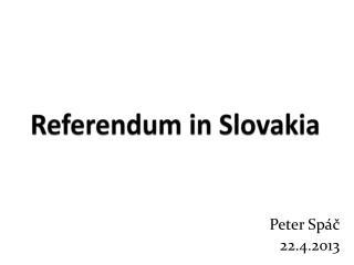 Referendum in Slovakia
